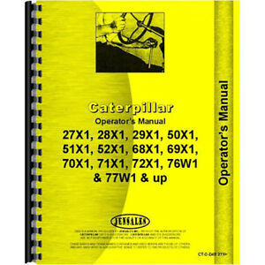 For Caterpillar D4e Tractor Operators Manual new