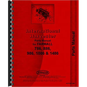 New International Harvester 986 Tractor Chassis Only Parts Manual