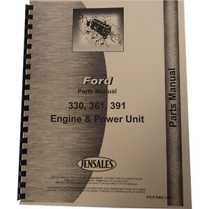 Engine Parts Manual Fits Ford 361 Engine V8 Gas industrial And Power Units