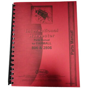 New International Harvester 806 2806 Tractor Parts Manual
