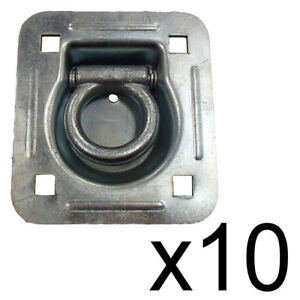Recessed D ring 10 Pack Flatbed Truck Trailer 6 000 Lb Capacity Tiedown Rdr5