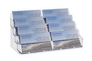 Source One 8 Pocket Desktop Clear Acrylic Business Card Holder bc 8p 6 Pack