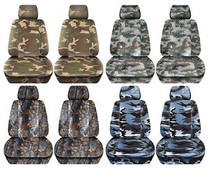 Truck Seat Covers 2015 2018 Ford F150 Camouflage Design Custom Fit Front Set Abf
