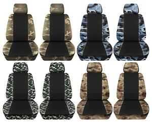 Truck Seat Covers 2015 2018 Ford F150 Camouflage Black Design Custom Fit Abf