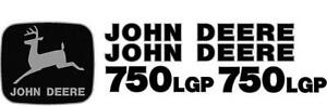 John Deere 750 Lgp Crawler Dozer Decal Set Jd Decals