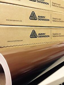 24in X 150ft 2ft X 50yd Avery Hp700 Chocolate Brown Cut Vinyl Roll