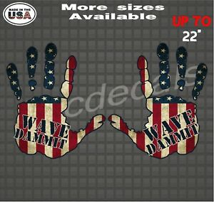 American Flag Jeep Hand Wave Vinyl Decal Jeep Wrangler Wave Dammit Sticker