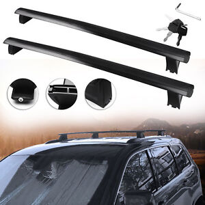 For 2011 2018 Jeep Grand Cherokee Black Top Roof Rack Cross Bar Cargo Luggage X2