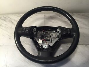 2004 2008 Mazda Rx 8 Rx8 Leather Steering Wheel Black Oem 6 Speed 04 05 06 07 08