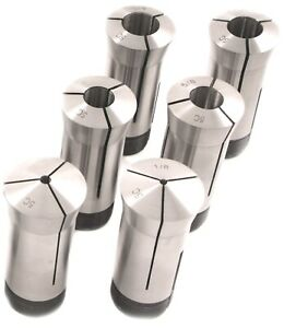 1 8 To 3 4 By 8ths 6 Piece 5c Collet Set 3900 0012