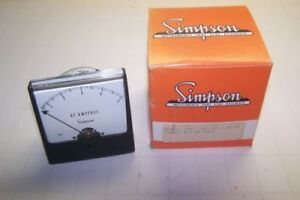 Simpson 1357 Cat No 03170 0 5 Ac Amps Panel Meter new In Factory Packaging