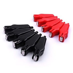 10 Pairs Insulated Clip Alligator Crocodile Test Clamp Probe Serrated Jaw R b