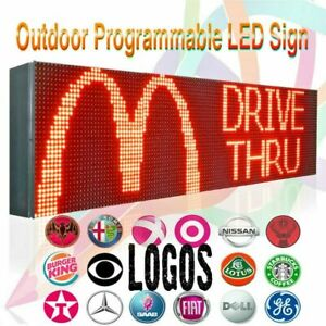 Wifi 15 X 25 Full Color 10mm Led Sign Indoor Outdoor Programmable Scrolling