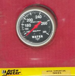 2 5 8 Inch Mechanical Water Temperature Gauge Kit Autogage By Autometer 3431