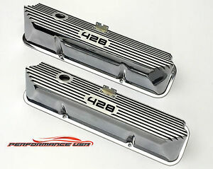 Brand New Ford Fe 428 Deep Laser Engraved Polished Valve Covers