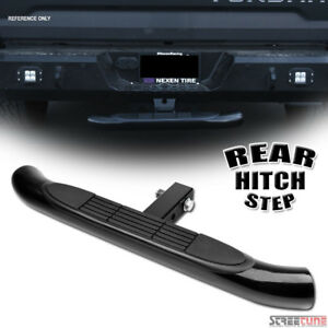 Black Steel Rear Hitch Step Bar Guard For 2 Trailer Tow Tailgate Receiver S17
