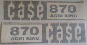 C870 Brand New Aftermarket Case Tractor 870 Agri King Hood Decal Set