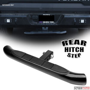 Black Steel Rear Hitch Step Bar Guard For 2 Trailer Tow Tailgate Receiver S06