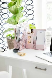 Blu Monaco Office Supplies Pink Desk Organizer For Ladies