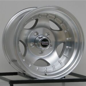 15 Inch Silver Wheel Rims Chevy Gmc Truck 1 2 Ton 5 Lug 5x5 Are Ar23 15x10 Set 4