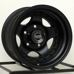 15 Inch Black Wheels Rims Chevy Gmc Truck 1 2 Ton 5 Lug 5x5 Are Ar23 15x10 New