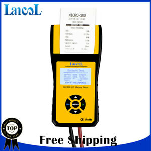 12v Car Battery Life Tester Battery Analyzer With Printer For Cca Battery Tester