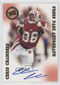 2001 Press Pass SE Autographs #CHCH Chris Chambers Wisconsin Badgers Auto Card