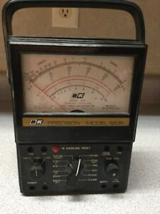 B k Precision Model 120p Multi meter Tested And Working No Leads