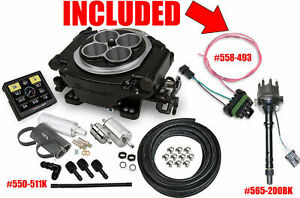 Holley 550 511k Sniper Efi Self tuning Master Black W 565 200bk Dist Sbc Or Bbc