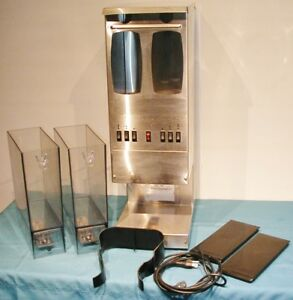 Fetco Gr 2 3 Commercial Coffee Grinder Dual Hopper Holds 10 Lbs Very Clean