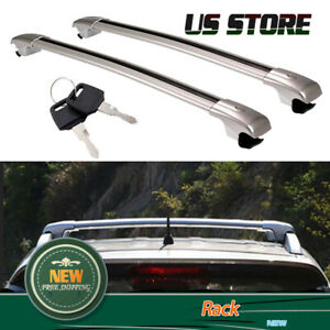 Top Roof Rack Rail Cross Bar Crossbar Silver For Ford Explorer 2012 2013 2014 15