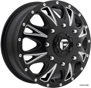 17x6 5 Dodge Chevy Gmc Dually Fuel Wheels Machined Set Of 4 With Lugs D513