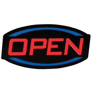9 5 X 17 Led Open Sign Red Blue And Black
