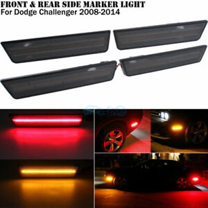 Smoked Lens Led Front Rear Side Marker Lights Kit For 08 14 Dodge Challenger