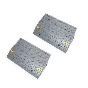 Bisupply Curb Ramps For Driveway Car Ramps Motorcycle Ramp Threshold Ramp 2pk