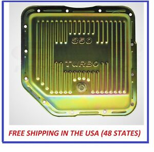 Stock Capacity Gm Chevy Turbo 350 Automatic Transmission Pan Th350 Zinc Plug