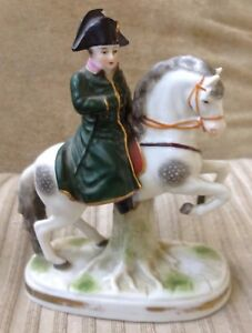 Antique Porcelain Napoleon On Horse Figurine Capodimonte