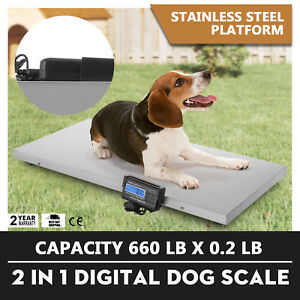 660lb Digital Livestock Vet Scale Hog Pet Dog Sheep Quick Lcd Display Weight