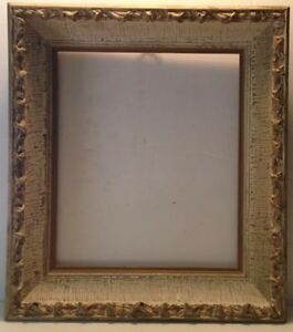 Vintage Ornately Carved Gilded Wooden Picture Frame Beige Gold 18 75 X 16 5