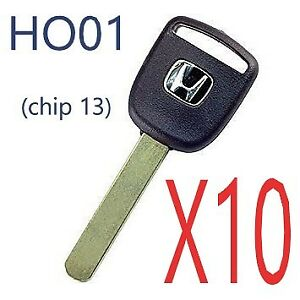 X10 Honda Ho01 Transponder Key Civic Element Cr v Pilot Odyssey 02 06 Usa Seller