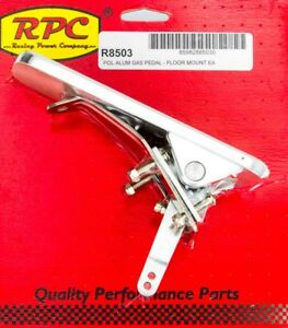 Racing Power Co R8503 Floor Mount Gas Rectangle Pedal Assembly Universal