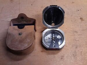 Vintage Dw Brutons Wm Ainsworth Sons Pocket Transit Compass Usa