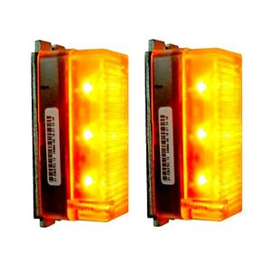 2x Whelen 01 0263752 12 Traffic Advisor Tir3 Amber Leds Dominator Light Bar