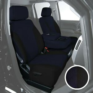 For Toyota Pickup 89 95 Saddleman Canvas 1st Row Blue W Black Custom Seat Covers