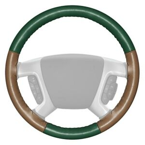 For Lincoln Navigator 15 18 Steering Wheel Cover Eurotone Two color Green
