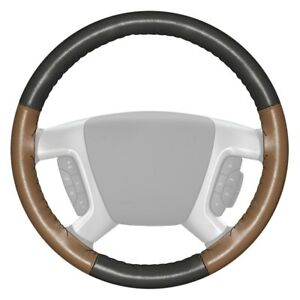 For Chevy Corvette 14 15 Steering Wheel Cover Eurotone Two color Charcoal