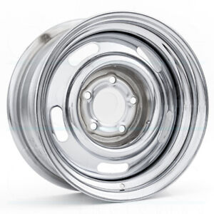 One 15x7 Vision 57 Rally 5x4 75 6 Chrome Wheels Rims