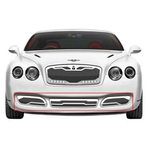 For Bentley Continental 04 09 3 pc Macaro Series Chrome Mesh Bumper Grille