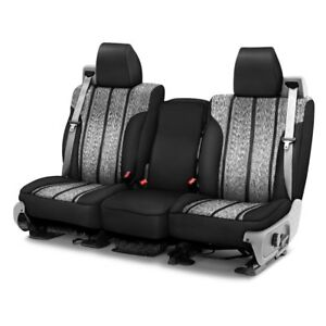 For Dodge Ram 1500 04 08 Saddle Blanket 1st Row Black Custom Seat Covers