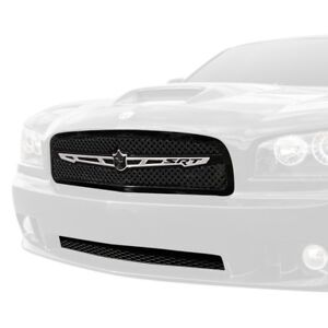 For Dodge Charger 06 09 Grille Kit 2 Pc Luxury Series Chrome Dual Weave Mesh